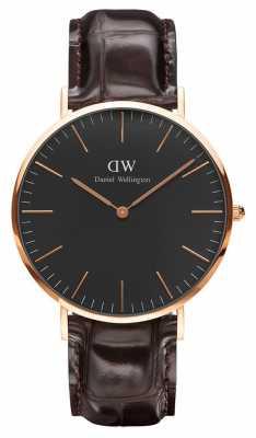 Daniel Wellington Unisex Classic Black York Watch 40mm DW00100128