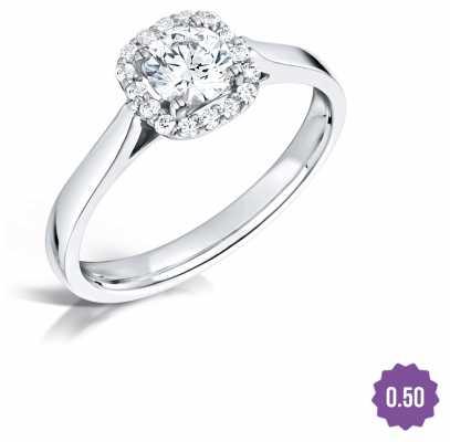 Certified Diamond 0.50 D SI1 GIA Diamond Engagement Ring FCD28348