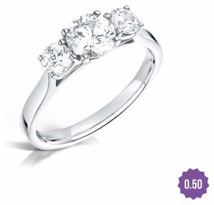 Certified Diamond 0.33 D SI1 GIA Diamond Engagement Ring FCD28342