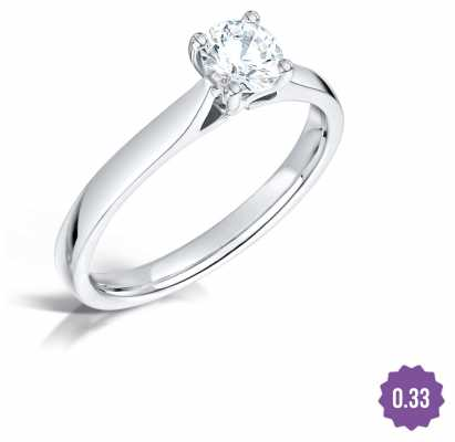 Certified Diamond 0.40 D SI1 GIA Diamond Engagement Ring FCD28375