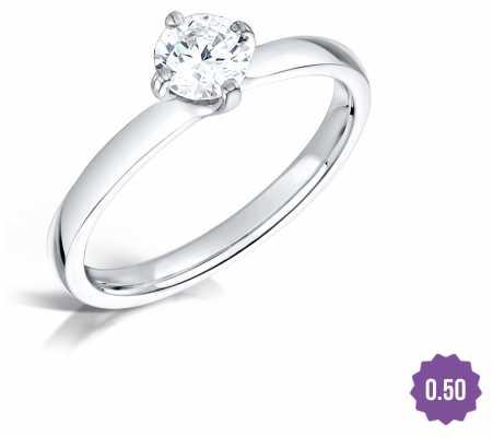 Certified Diamond 0.50 H SI1 IGI Diamond Engagement Ring FCD28377