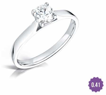 Certified Diamond 0.41 H SI1 GIA Diamond Engagement Ring FCD28378