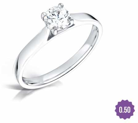 Certified Diamond 0.50 D SI1 GIA Diamond Engagement Ring FCD28350