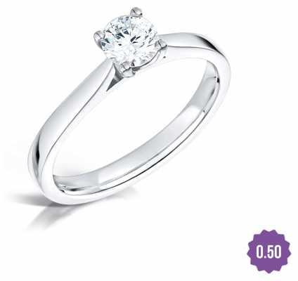 Certified Diamond 0.50 D SI1 GIA Diamond Engagement Ring FCD28352
