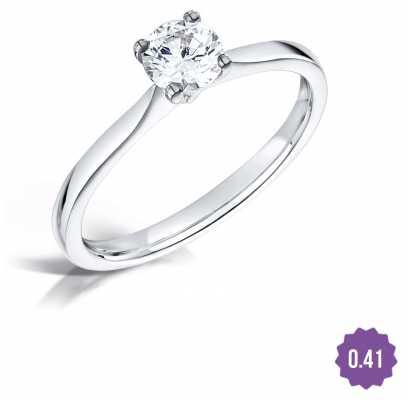 Certified Diamond 0.41 H SI1 IGI Diamond Engagement Ring FCD28359