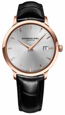 Raymond Weil Mens Toccata Silver Leather 5488-PC5-65001