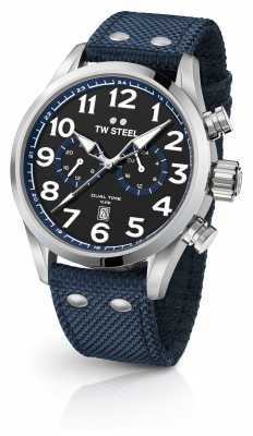 TW Steel Black Fabric Gents Watch VS37