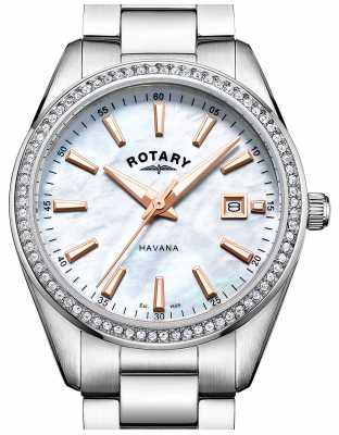 Rotary Womans Havana Mother Of Pearl Watch LB05079/41