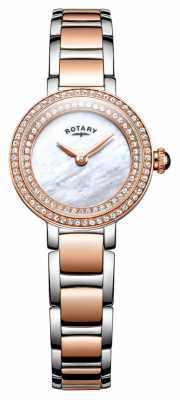 Rotary Womans Stone Set Two Tone Cocktail Watch LB05086/41