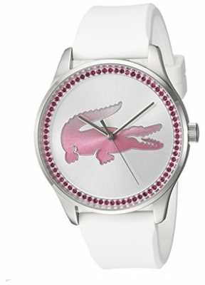 Lacoste Womans Victoria Quartz White Leather 2000970
