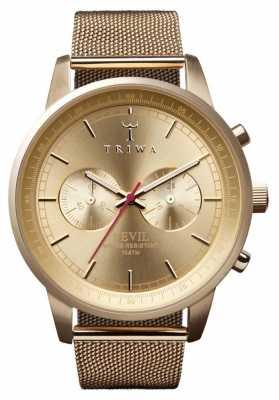 Triwa Womans Nevil Chronograph Gold Tone Mesh NEST104-ME021313