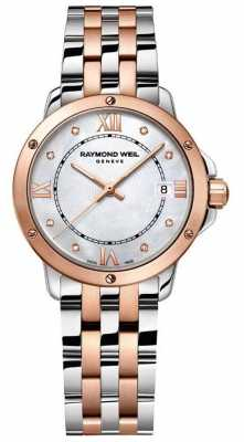 Raymond Weil Womans Tango Two Tone Mother Of Pearl Dial 5391-SB5-00995