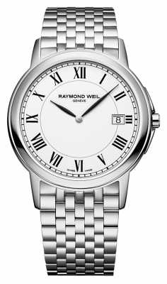 Raymond Weil Mens Tradition Steel White 5466-ST-00300