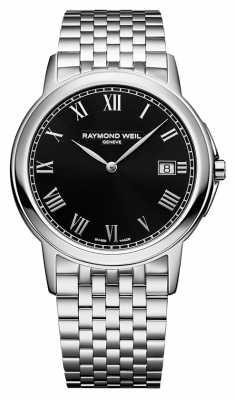 Raymond Weil Mens Tradition Steel Black 5466-ST-00208