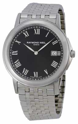 Raymond Weil Mens Tradition Steel Black 5466-ST-00208