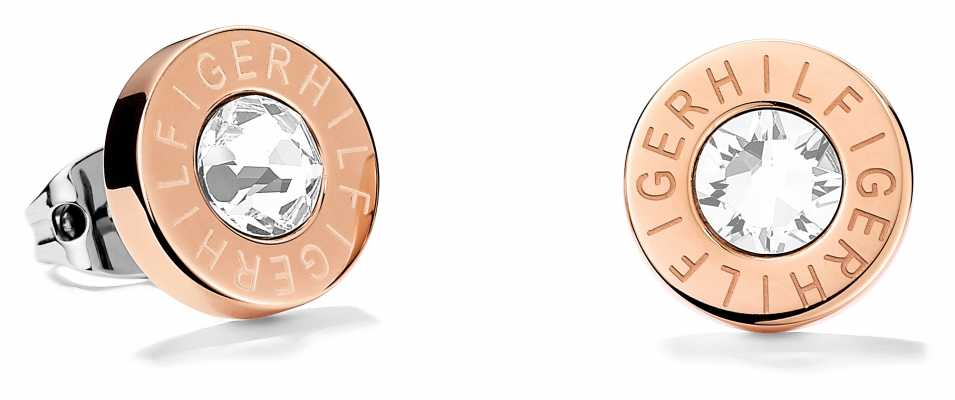 Tommy Hilfiger Womens Rose Gold Plated Stud Earrings 2700752