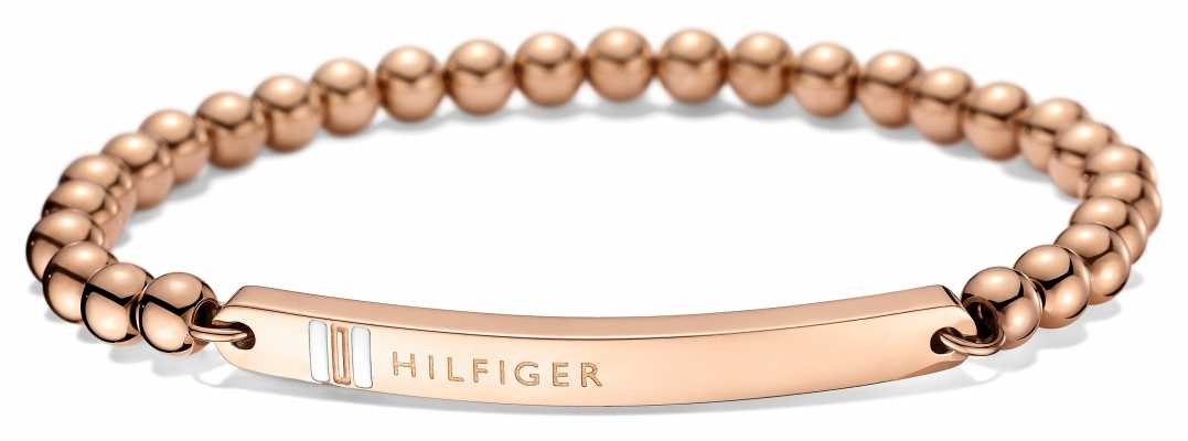 Tommy Hilfiger Womens Rose Gold Plated ID Bracelet 2700788