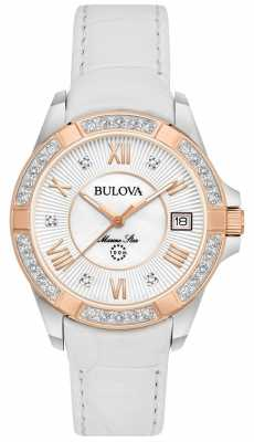 Bulova Womans Marine Star Diamond White 98R233