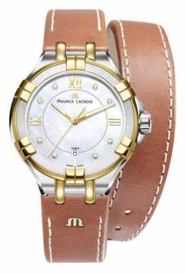 Maurice Lacroix Womans Aikon Quartz Brown Leather AL1004-PVY13-171-1