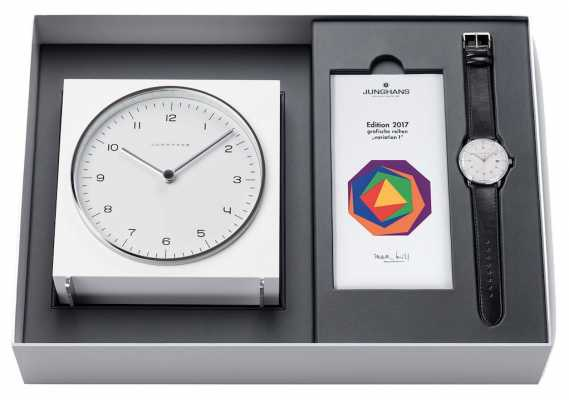 Junghans Max Bill Limited Edition 2017 - Clock and Watch Set 363/2715.00