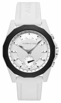Armani Exchange CONNECTED Smart Watch White Silicone Strap AXT1000