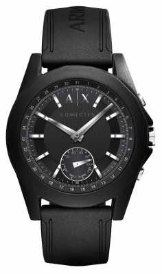 Armani Exchange CONNECTED Smart Watch Black Silicone Strap AXT1001