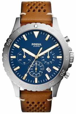 Fossil Mens Crewmaster Chronograph Blue CH3077