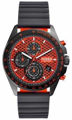 Fossil Mens Sport 54 Chronograph Black Orange CH3078