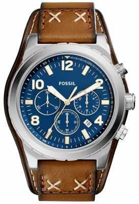 Fossil Mens Oakman Chronograph Blue CH3081