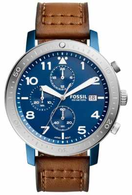 Fossil Mens The Major Chronograph Blue CH3085