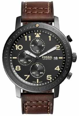 Fossil Mens The Major Chronograph Black CH3086