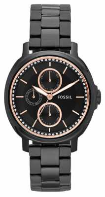 Fossil Womans Chelsey Chronograph Black ES3451