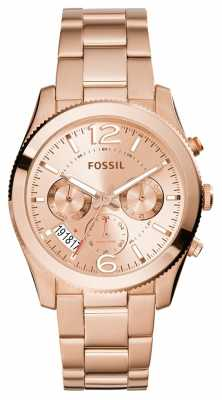 Fossil Womans Perfect Boyfriend Rose Gold Chronograph ES3885