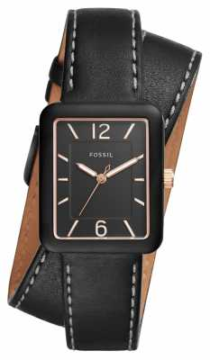 Fossil Womans Atwater Black Leather ES4193