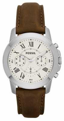 Fossil Mens Grant Chronograph Cream FS4839