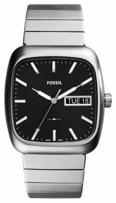 Fossil Mens Rutherford Silver Metal FS5331