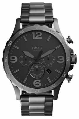 Fossil Mens Nate Chronograph Two Tone Metal JR1527