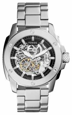 Fossil Mens Machine Black Metal Silver ME3081