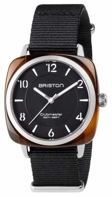 Briston Unisex Clubmaster Chic Black Acetate Steel With Nato Strap 17536.SA.T.1.NB