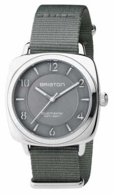 Briston Unisex Clubmaster Chic Grey Steel With Nato Strap 17536.S.L.17.NG