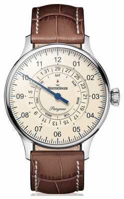 MeisterSinger Mens Classic Plus Pangaea Day Date PDD903