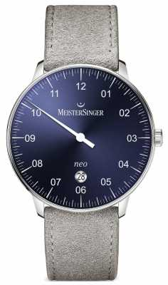 MeisterSinger Mens Form And Style Neo Plus Automatic Sunburst Blue NE408