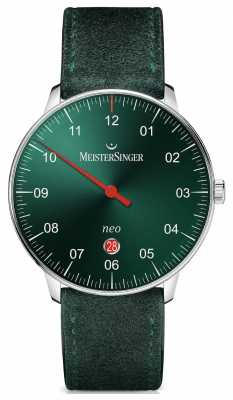 MeisterSinger Mens Form And Style Neo Plus Automatic Sunburst Green NE409