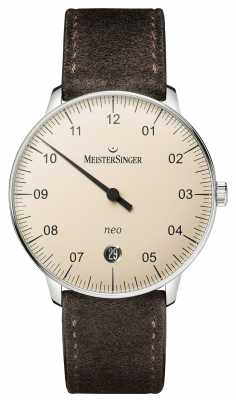 MeisterSinger Mens Form And Style Neo Automatic Ivory NE903N