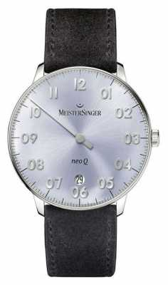 MeisterSinger Mens Form And Style Neo Q Quarz Sunburst Sky Blue NQ908N