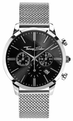 Thomas Sabo Mens Eternal Rebel Stainless Steel Mesh Chronograph WA0245-201-203-42