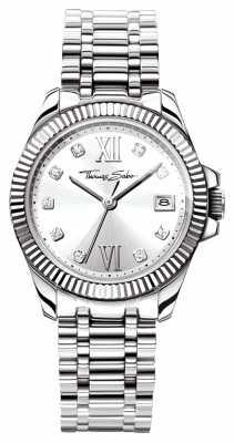 Thomas Sabo Womens Divine Stainless Steel Bracelet Silver Dial WA0252-201-201-33