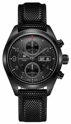 Hamilton Khaki Field Auto Chrono Black H71626735