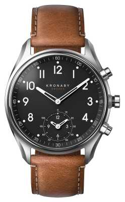 Kronaby Apex Bluetooth Brown Leather watch A1000-0729