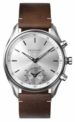 Kronaby SEKEL bluetooth dark Brown Leather watch A1000-0714